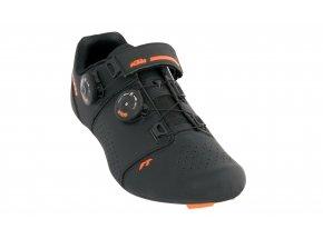 Cyklistické tretry KTM Factory Team Road Carbon Black/orange