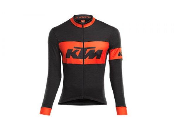 Cyklistický dres KTM FACTORY TEAM RACE All Season 2021 Black/orange