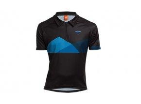 Cyklistický dres KTM FACTORY CHARACTER POLO Black/blue