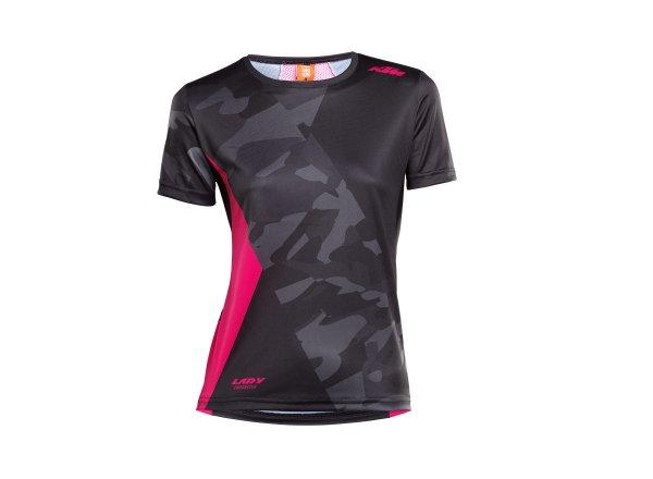 Dámský cyklistický dres KTM Lady Character Shirt Black/berry