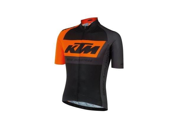 Cyklistický dres KTM FACTORY TEAM Race Jersey Black/orange