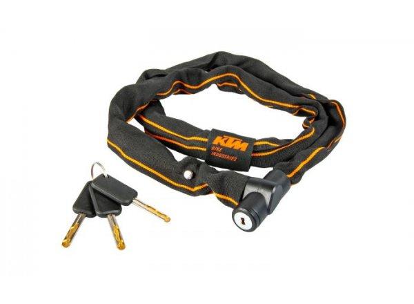Zámek KTM Chain Lock Key 2021 Black/orange