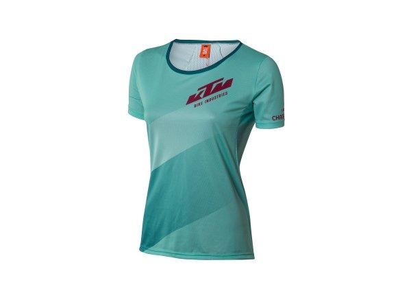 Dámský cyklistický dres KTM Lady Character 2021 aqua/vital blue