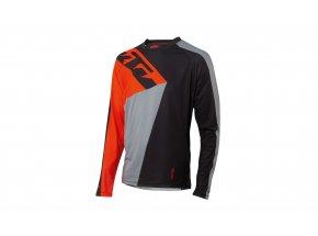Cyklistický dres KTM Factory ENDURO 2021 dlouhý rukáv black/orange/grey
